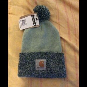 Mint and Forrest green Carhartt beenie